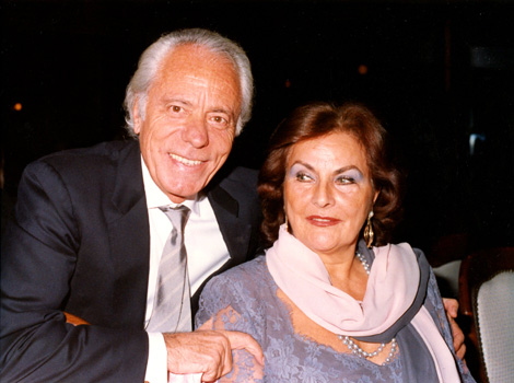 Enzo Gnerre with his wife Rita
